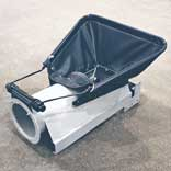 """Flex Hopper option shown. Spring-loaded and gives superior """"flex"""" and ease when end-gate truck unloading"""