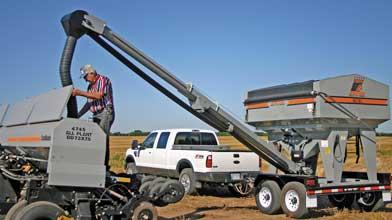 Full 180° pivot range for easy filling and transport*